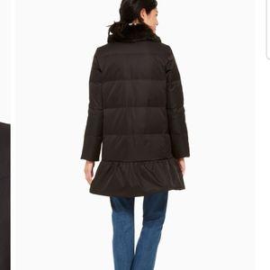 Jewel button puffer coat